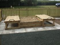 Commercial Sandpit with Sliding Lids - 2