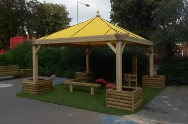 Canvas Gazebo With Attractive Timber Frame From Ngf Play