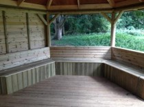 Benches in Eco Classroom