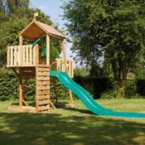 Kingswood 2 Tower climbing frame with crazywavy slide