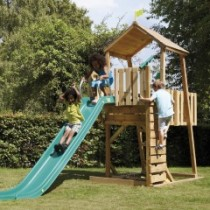 Kingswood 2 Tower climbing frame with rapide slide