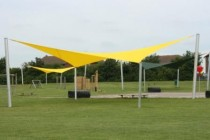yellow shade sail